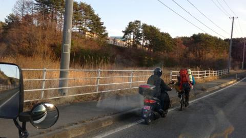 バイクによる伴走
